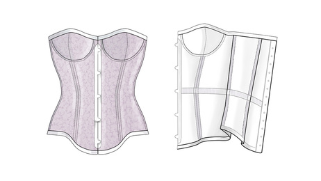 CORSETRY Tutorials Design By LOT40 Inspiration Corset Pattern